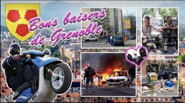 La carte postale de Grenoble qui fait malheureusement fureur: pendant que Grenoble brûle les élus proposent de s'entendre sur des commissions....