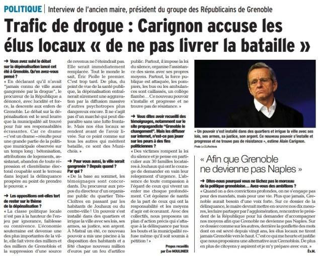 Alain Carignon a alerté en vain à plusieurs reprises: avec la société civile il propose des mesures concrètes
