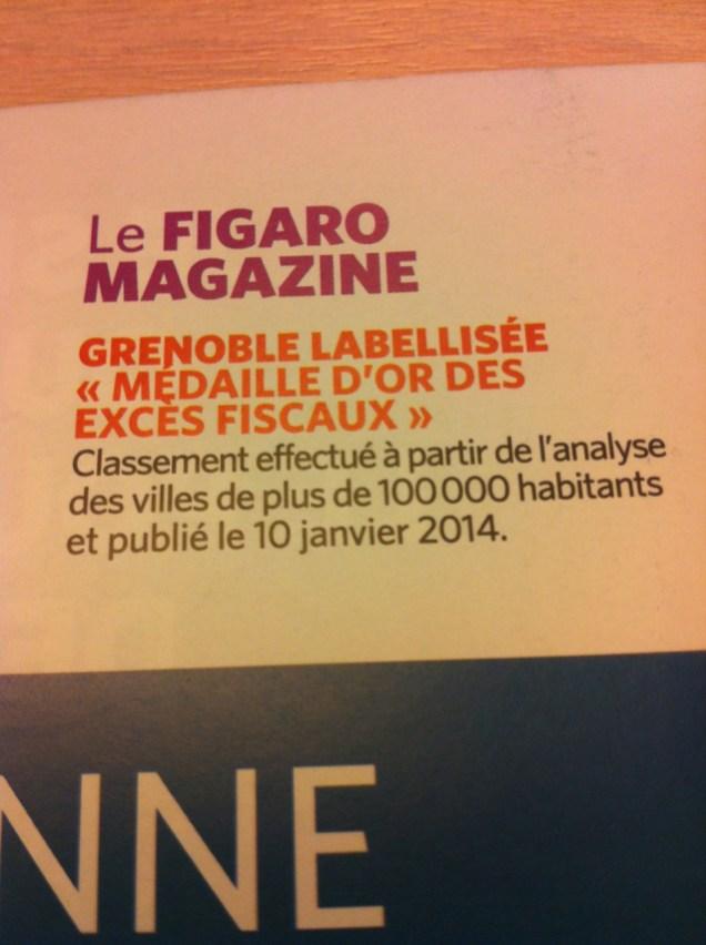 Grenoble a été sacrée championne de France des excès fiscaux, elle l'est restée