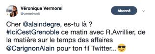 Elle relance Alain Degre car il faut fausser la fiche d'Alain Craignon: rien d'autre à faire?