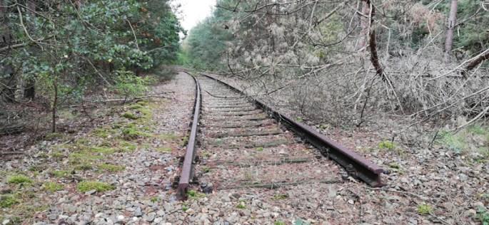Opgebroken spoor van IJzeren Rijn