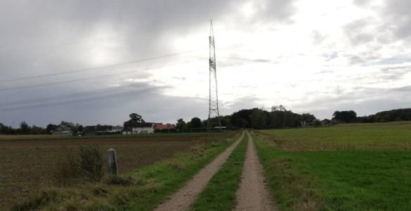 Het grenspad bij het buurtschap Voorst
