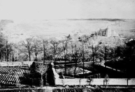 Burg Rode op foto uit 19e eeuw