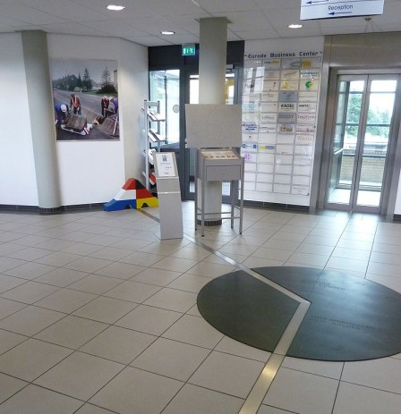 De grens in het Eurode Business Center