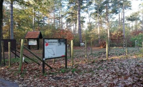 De Dodendraad ten westen van Budel in het bos