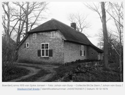 Foto van Hoeve Sjoke Jansen, 1979, foto website Antoinette Jansen