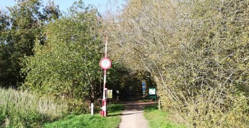 De grens grens tussen Clinge en Hulst, het voormalig Klingspoor
