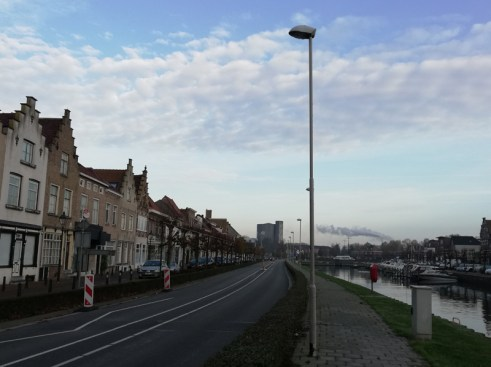 Bij de haven van Sas van Gent