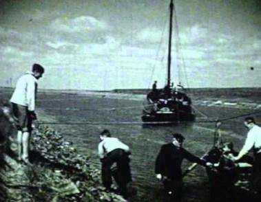 Oude foto van de Haven van Boekhoute