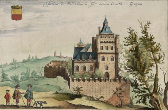 Het kasteel in Middelburg in 1641 (Flandrium Illustrata)