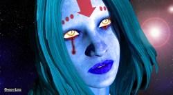 Tears of a blue priestess