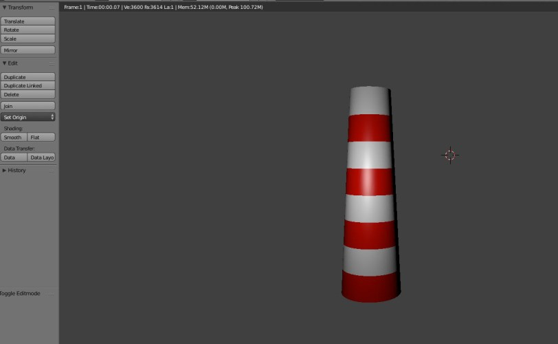 Step 1: The basic lighthouse shape