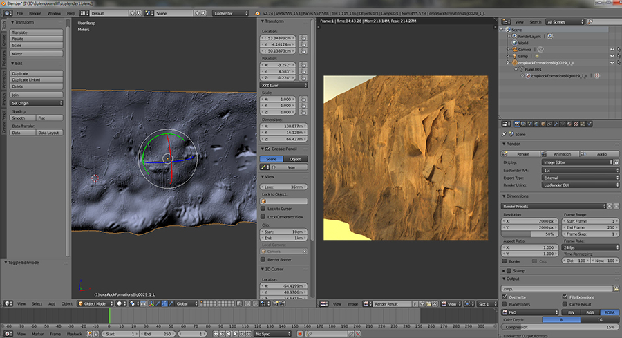 More thoughts on cliffs being designed in Blender