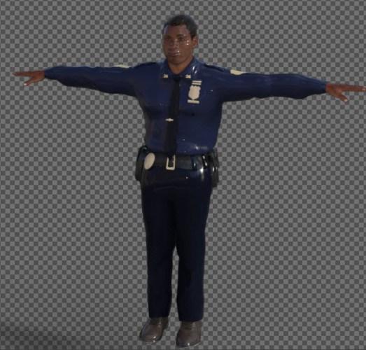 "Renderosity, a Gazebo, and a Photoshop image of ""PoliceJoe"""