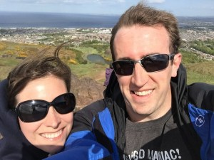 Will and his wife in Scotland
