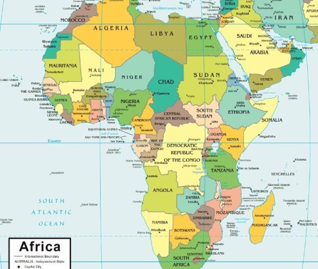 Peta Benua Afrika Negara Sejarah Alam Batas Wilayah Budaya