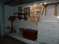 Some of our lovely workhouse chairs in their new amazingly elegant cases and mounts.