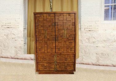 brutalist tall dresser front