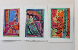 set of 3 colorful paintings by paul crimi (2)