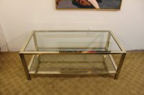 brass and chrome coffee table (13)