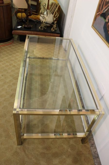 brass and chrome coffee table (18)