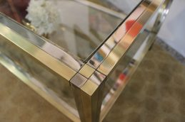 brass and chrome coffee table (6)