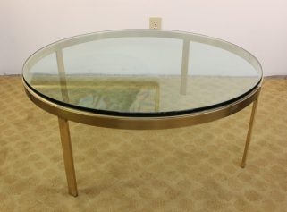 brass and glass coffee table (2)