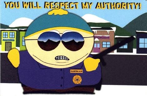 respect my authority cartman