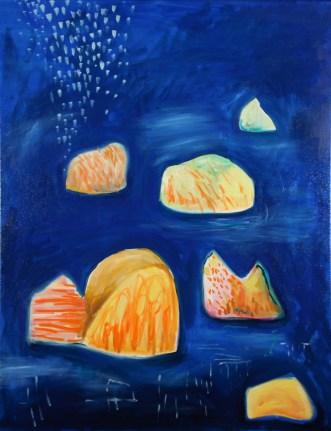 Islands II, 2016, acrylic and oil on canvas, 91x76cm NFS