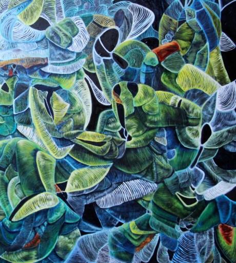 Writhe, 2011, acrylic, oil and enamel on canvas