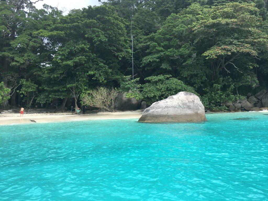 Amazing clear water in the SImilan Islands