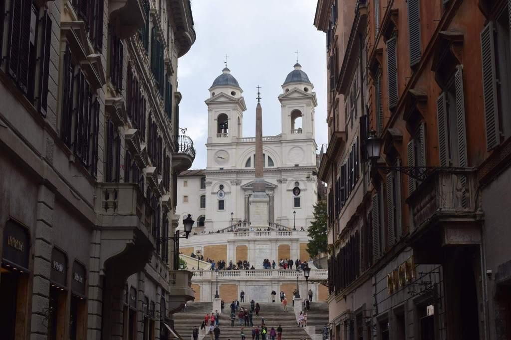 Glimpses of Trinità dei Monti