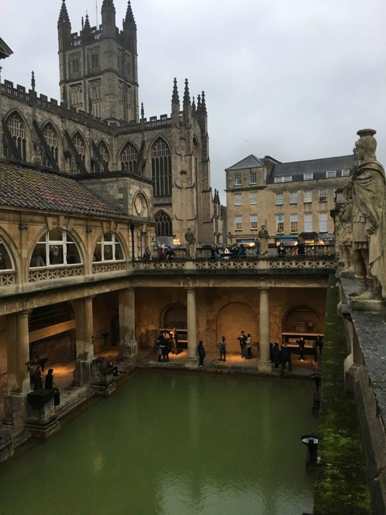 The Roman baths and Bath Cathedral