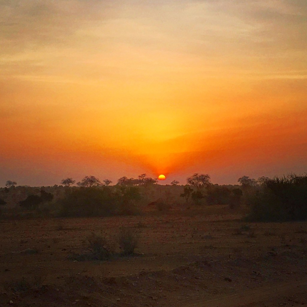 Sunrise over the Savannah in Kenya