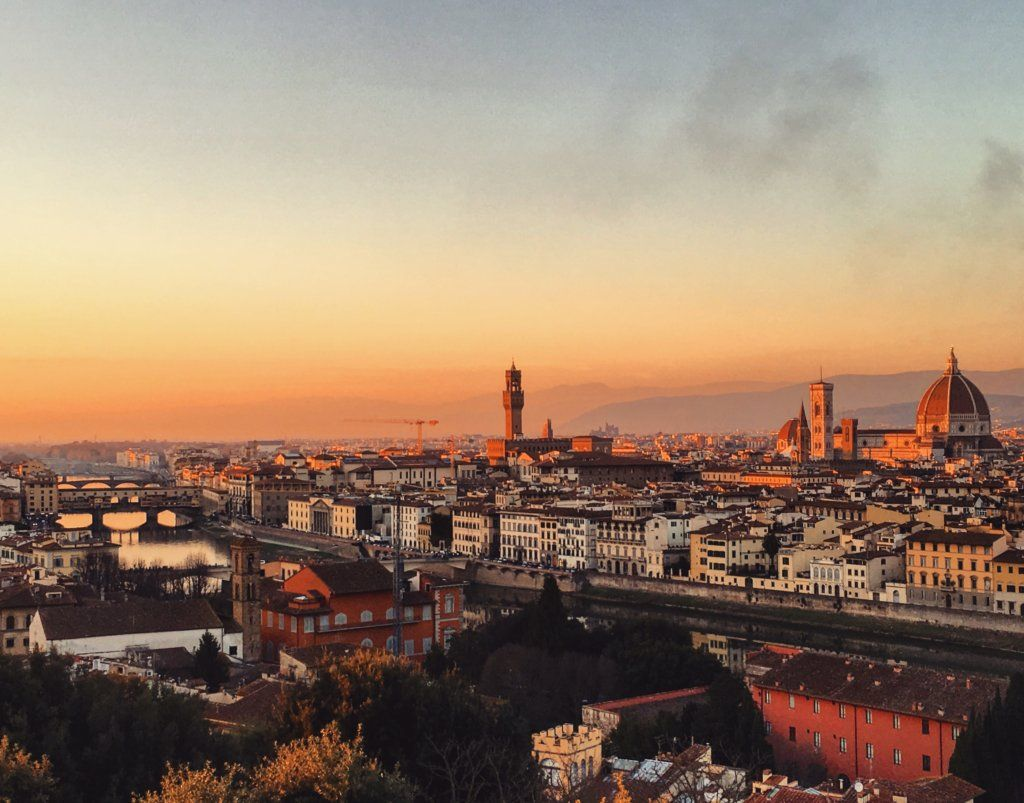 Sunset over Florence, Italy, shot on Sony DSCWX500