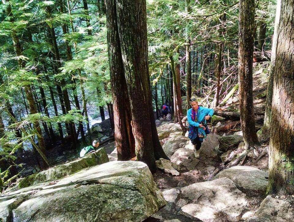 Hiking up the First Peak at Stawamus Chief Provincial Park