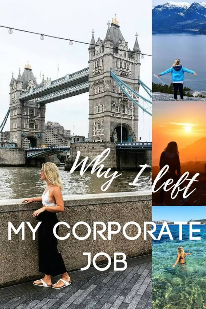 Just over a month ago I left my well paid corporate job, I still don't know what I'm going to move on to, but I'm happy that way. If you've ever felt trapped at work, and found freedom only in travel, you will relate to my story!