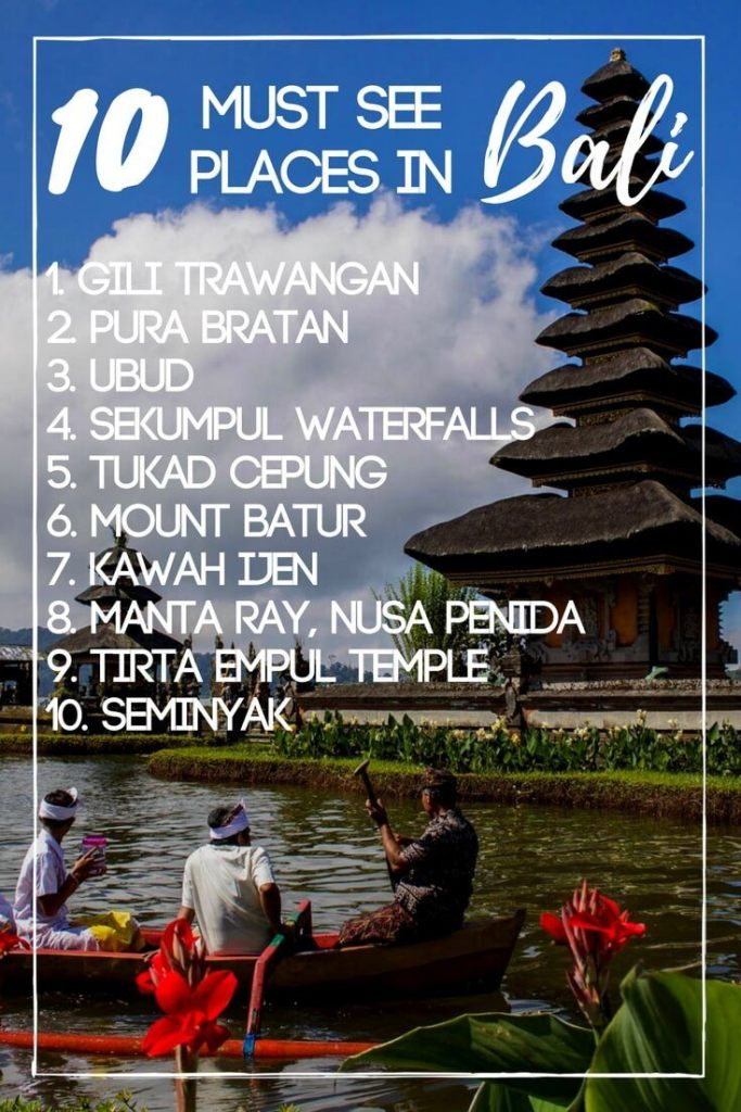 Planning a trip to Bali? Check out this list of 10 must-see locations on your first trip to Bali. Featuring some of the best things to do, places to see and places to eat in Bali, Indonesia.