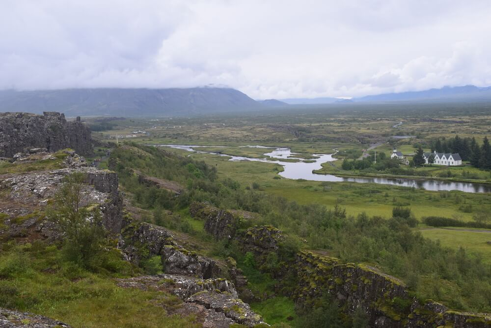 Thingvellir National Park, with the canyon wall to the left