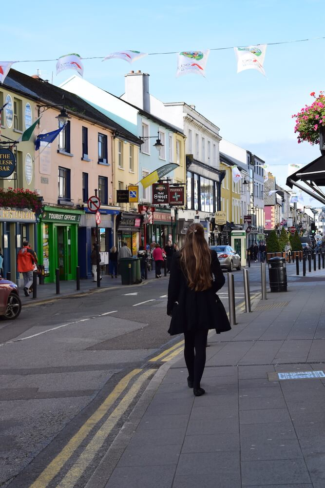 Wandering around the cute town centre of Killarney