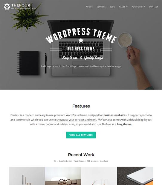 thefour wordpress business theme