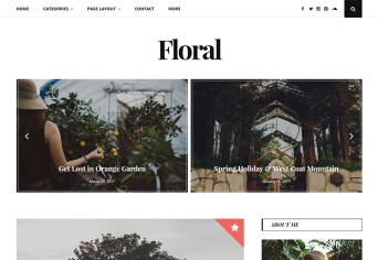 floral wordpress personal blog theme