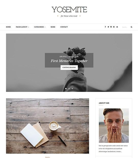 Yosemite Minimal WordPress Themes