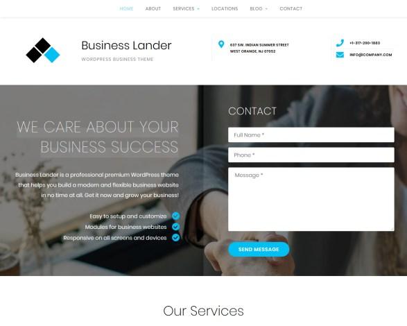 Business Lander Business WordPress Theme