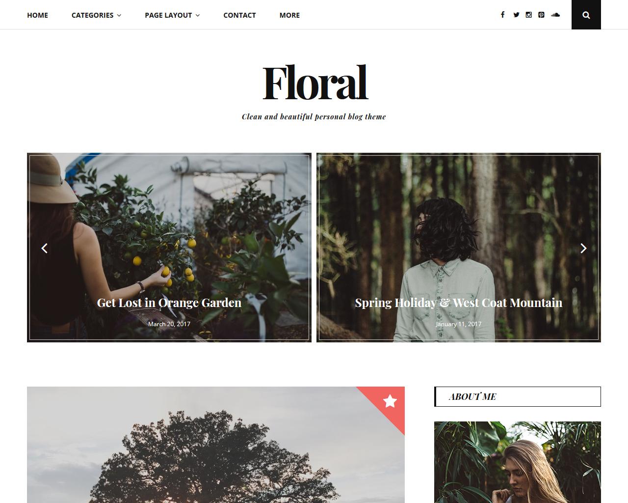 Floral Blog WordPress Theme