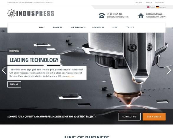 IndusPress Business WordPress Theme