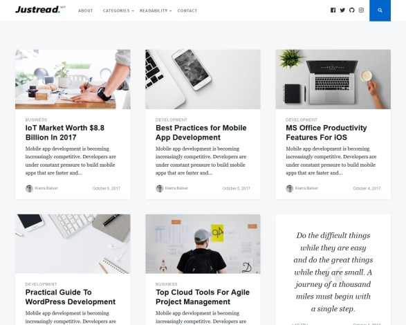 Justread Blog WordPress Theme