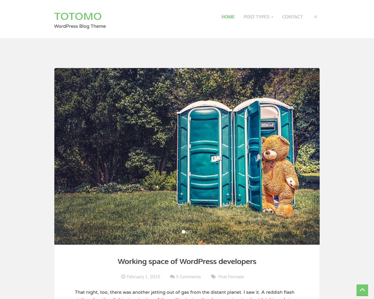 Totomo Blog WordPress Theme
