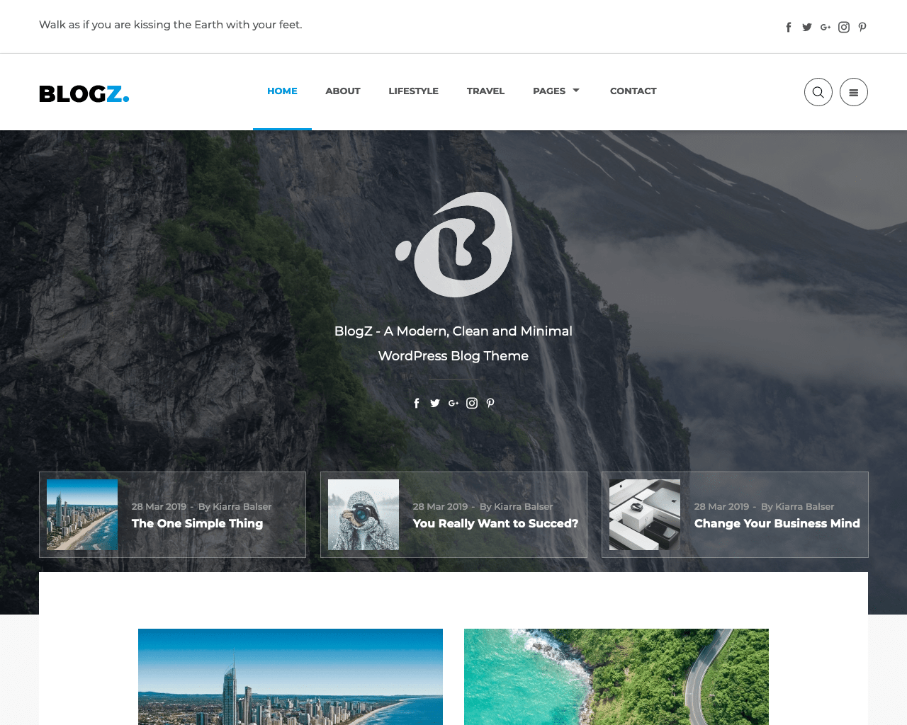 BlogZ WordPress Blog Theme