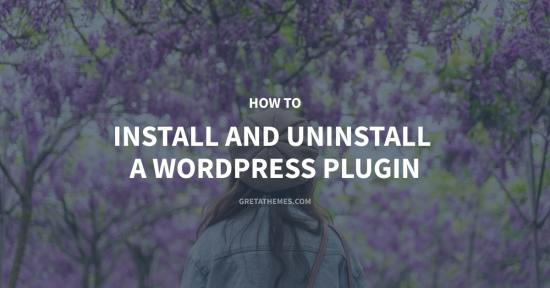 How to install and uninstall a WordPress plugin